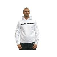 Mikina s kapucí Malossi bílá - velikost L