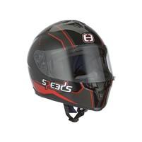 Přilba Speeds Integral Race II Graphic titan / černá / červená - vyberte velikost