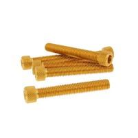 Hliníkové šrouby M8x50 zlaté 6 ks