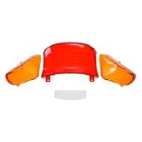 Sklo zadního světla červené,2x oranžové