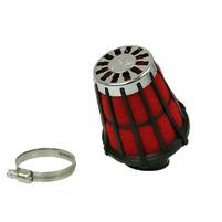 Vzduchový filtr Malossi racing grid 38mm červeno černý