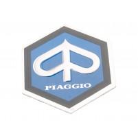 Znak Piaggio 25x30mm hliníkový samolepka pro Vespa PX, PE 80, 125, 200