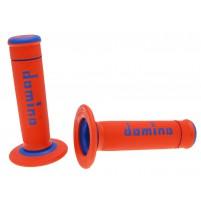 Rukojeti Domino Offroad Fine Grip oranžovo modré