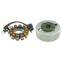 Zapalování komplet, rotor + stator Aprilia/Piaggio 100cc 969228+969243