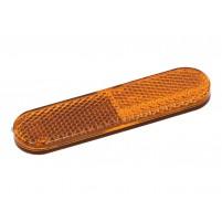 Odrazka 95x25mm oranžová samolepka