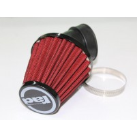 Vzduchový filtr průměr 40-48mm 45 stupňů červený