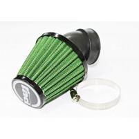 Vzduchový filtr průměr 40-48mm 45 stupňů zelený