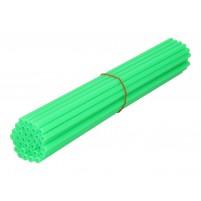 Ozdobný návlek drátu kola 250mm neonově zelený 36 kusů