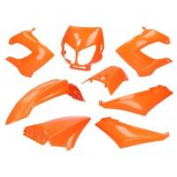 Sada oranžových plastů pro Derbi Senda R/ SM X-Treme, SM DRD
