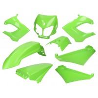 Sada zelených plastů pro Derbi Senda R/ SM X-Treme, SM DRD