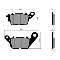 Brzdové destičky Polini pro Yamaha N-Max ABS 125i,Ocito 125
