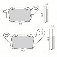 Brzdové destičky přední Yamaha N-Max 125/150