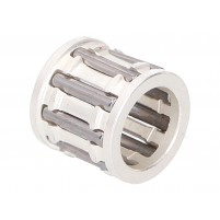 Ložisko pístního čepu R & D stříbrná klec 12x17x16mm Piaggio/Minarelli
