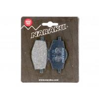 Brzdové destičky Naraku organické pro Yamaha Cygnus, TZR, MBK Flame, X-Power