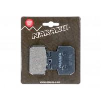 Brzdové destičky Naraku organické pro Gilera RC 500i, Piaggio MP3, X8, X9, Vespa GTV