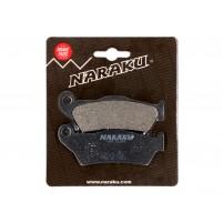 Brzdové destičky Naraku organické pro MBK Skyliner, Yamaha Majesty, Piaggio X9, Gilera Nexus, GP800, Suzuki UH Burgman 125, 150