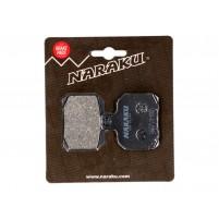 Brzdové destičky Naraku organické pro Aprilia, Derbi, Peugeot, Gilera, MBK, Malaguti