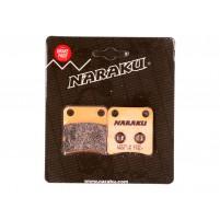 Brzdové destičky Naraku sintrované pro Honda Dio, Daelim Message, Cordi, Five
