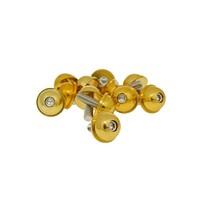 Hliníkové šrouby M5x13 zlaté 12 ks