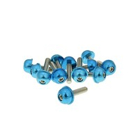 Hliníkové šrouby M5x20 modré 12 ks