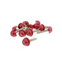 Hliníkové šrouby M5x20 červené 12 ks