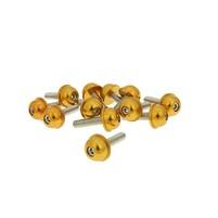 Hliníkové šrouby M5x20 zlaté 12 ks
