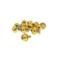 Hliníkové šrouby M6x13 zlaté 12 ks