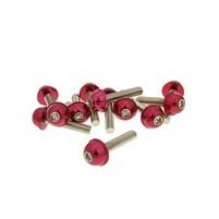 Hliníkové šrouby M6x30 červené 12 ks