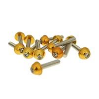 Hliníkové šrouby M6x30 zlaté 12 ks
