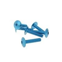 Šrouby s vnitřním šestihranem - eloxovaný hliník modrý - sada 6 ks - M6x30