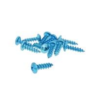 Sada šroubů 12 ks modrá - 6 x 20