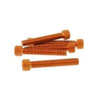 Hliníkové šrouby oranžové  M8x50  6 kusů