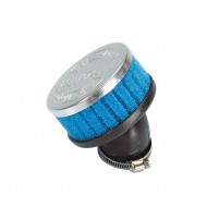 Vzduchový filtr Polini Special Air Box Filter krátký 36mm 30 ° modrý