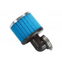 Vzduchový filtr Polini Speciální vzduchový filtr 38mm 90 ° modrý