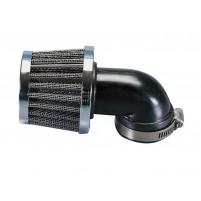 Vzduchový filtr Polini Metal Vzduchový filtr 38mm 90 ° chrom