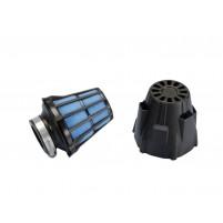 Vzduchový filtr Polini Blue Air Box 37mm rovný černo-modrý