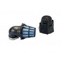 Vzduchový filtr Polini Blue Air Box 37mm 90 ° černo-modrá
