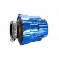 Vzduchový filtr Polini Blue Air Box 46mm rovný modro-černý