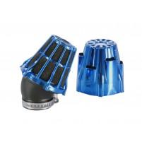 Vzduchový filtr Polini Blue Air Box 46mm 30 ° modro-černý