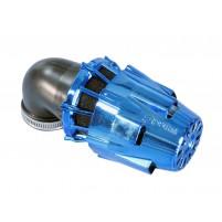 Vzduchový filtr Polini Blue Air Box 46mm 90 ° modro-černá