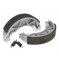 Sada brzdových čelistí Polini 140x25mm včetně pružin pro bubnové brzdy pro Piaggio 125 Fly, Liberty, Hexagon, Vespa Primavera