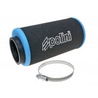 Vzduchový filtr Polini Evolution 60mm rovný černo-modrý