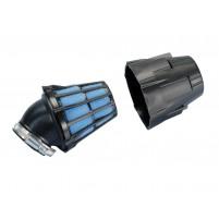 Vzduchový filtr Polini Blue Air Box 32mm 30 ° černo-modrá