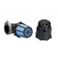 Vzduchový filtr Polini Blue Air Box malý 37mm 90 ° černo-modrý