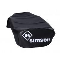 Potah sedadla hladký černý pro Simson S50, S51, Schwalbe KR51 / 1, KR51 / 2, Sperber SR4-3, Habicht SR4-4
