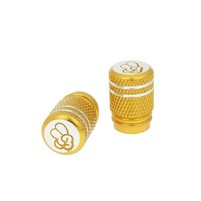 Čepičky ventilků hliníkové eloxované zlaté