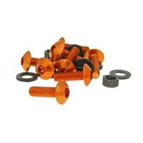 Hliníkové šrouby a matky M5x16 oranžové 8 sad