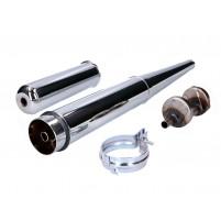 Výfukový chrom 28 mm pro Simson S50, S51, S53, S70, S83, Star, Schwalbe, Sperber, Habicht