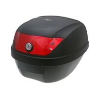 Kufr 28 litrů černý-červené odrazky