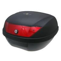 Kufr 51 litrů černý-červené odrazky